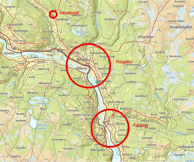 kart over ringebu Ledige tomter   Ringebu kommune kart over ringebu